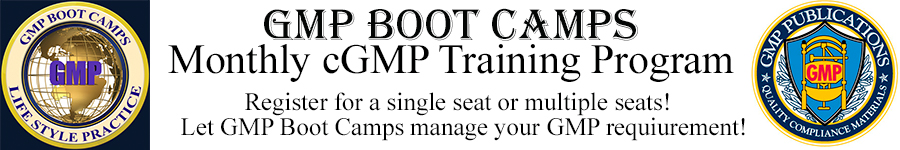 GMP QMS Monthly Boot Camps