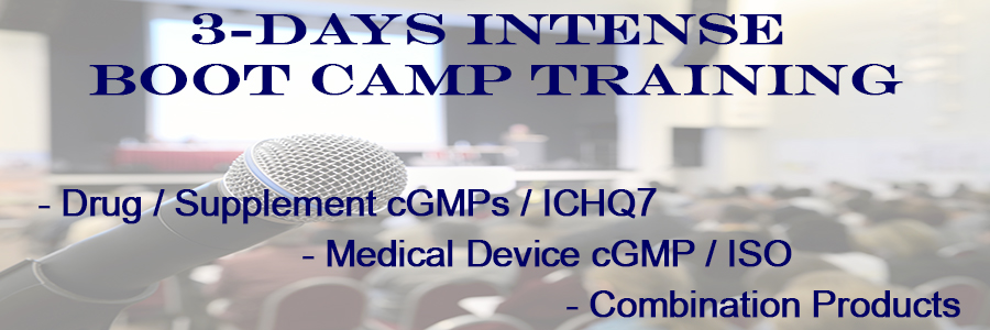 Master GMP Boot Camp for Drug, Device, and Combination Products